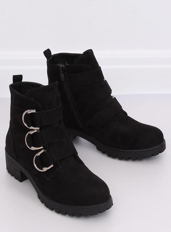 Botki damskie czarne Z144 BLACK