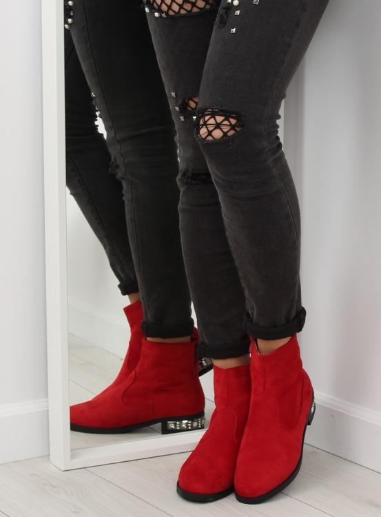 Botki damskie czerwone 168-176 RED