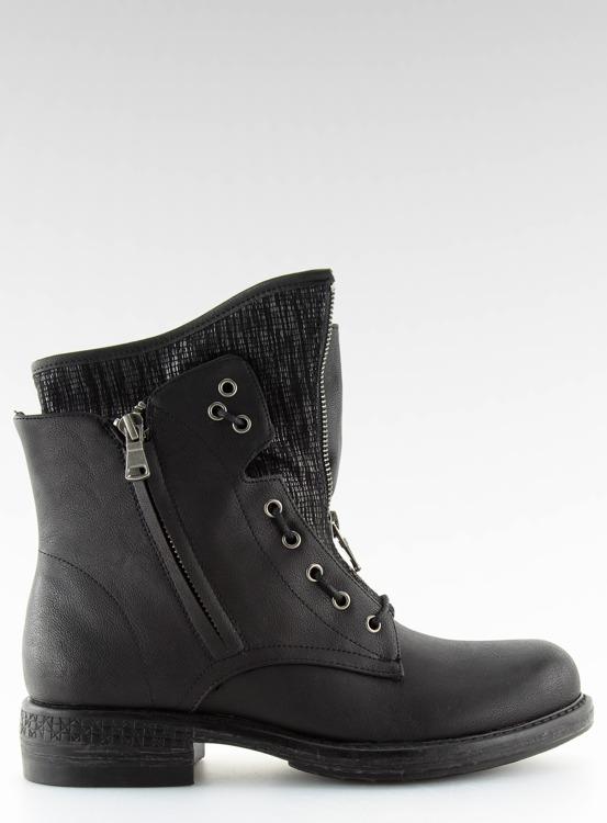 Botki damskie militarne czarne CLS-31 BLACK