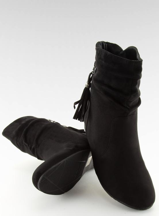 Botki damskie saszki czarne VQ-362 BLACK