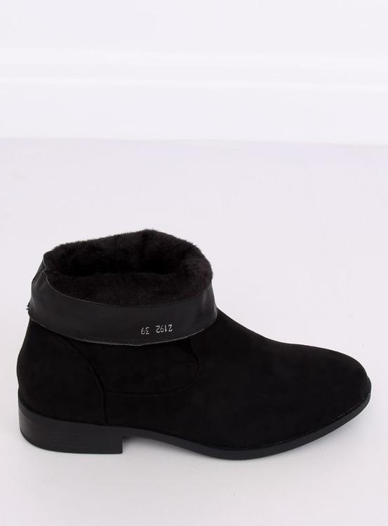 Botki damskie saszki czarne Z192 BLACK