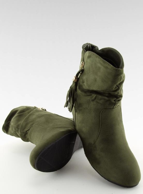 Botki damskie saszki zielone VQ-362 GREEN
