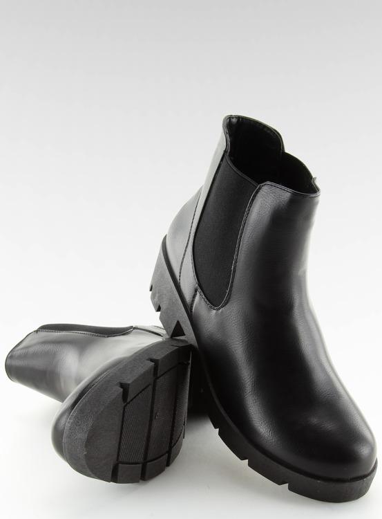 Botki damskie sztyblety czarne 9996-3 BLACK