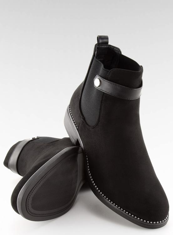 Botki damskie sztyblety czarne C-7203 BLACK