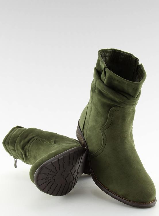 Botki damskie zielone 99-135 OLIVE