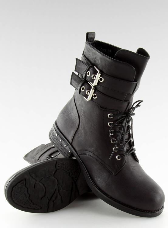 Botki glany workery czarne 977-PA BLACK