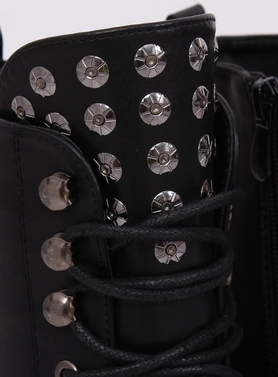 Botki glany z ćwiekami czarne KL-599 BLACK