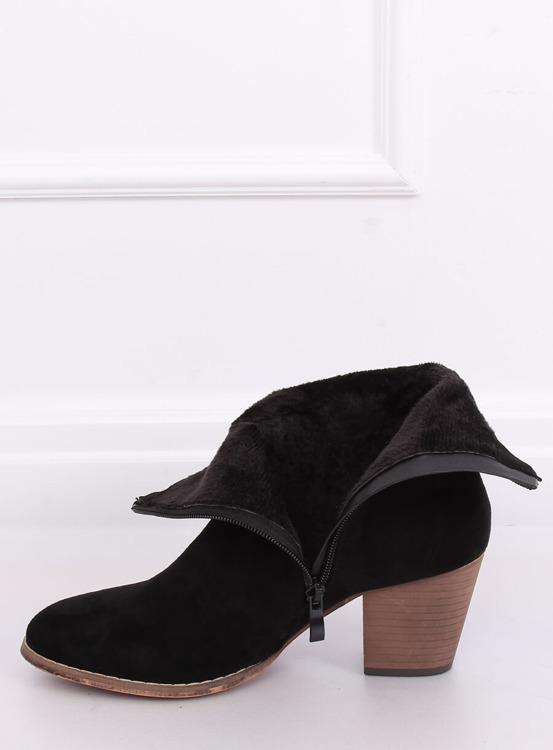 Botki kowbojki czarne E2250 BLACK