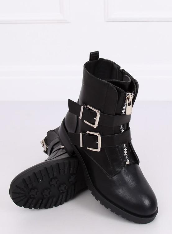 Botki militarne czarne 688-A14 BLACK