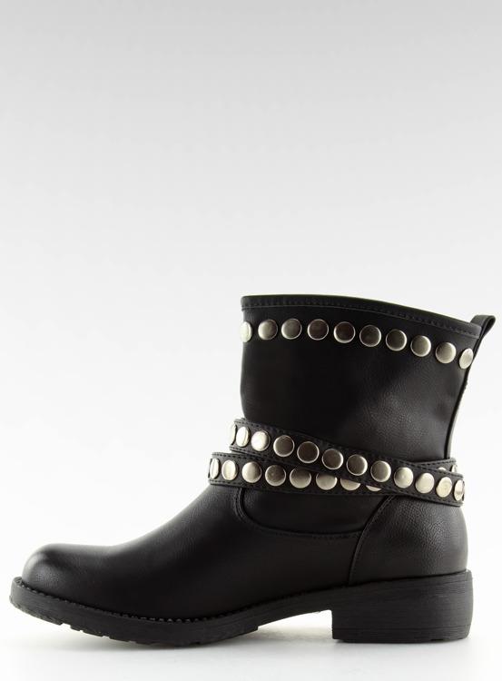 Botki militarne czarne A89811 BLACK