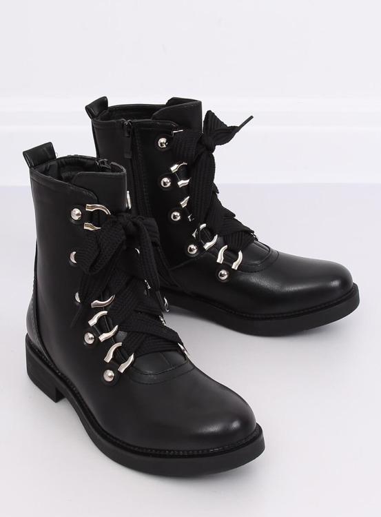 Botki militarne czarne LJ001 BLACK