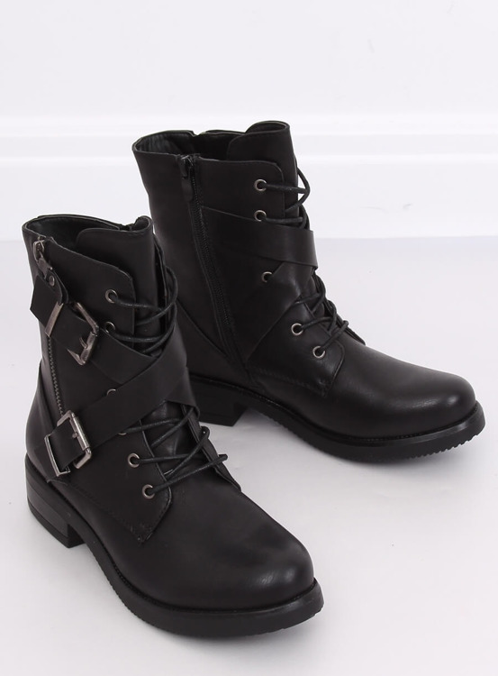 Botki militarne workery czarne C581 BLACK