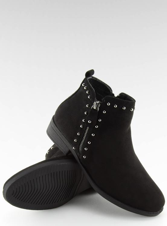 Botki półbuty damskie czarne L1217 BLACK