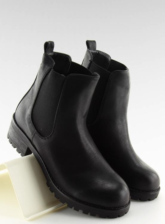 Botki sztyblety czarne 945-PA BLACK