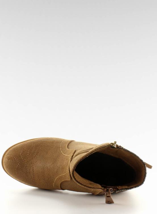 Botki sztyblety dziecięce k1647301 Camel