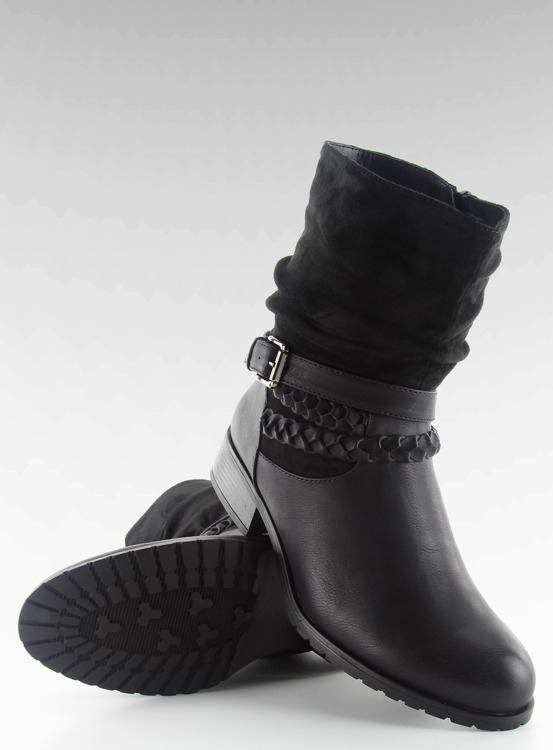 Botki w militarnym stylu 632-pa BLACK
