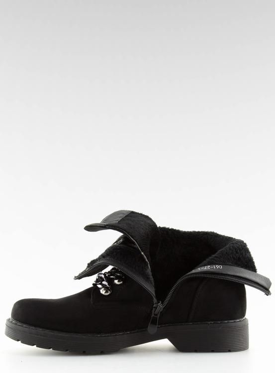 Botki workery czarne 061-27-1 BLACK