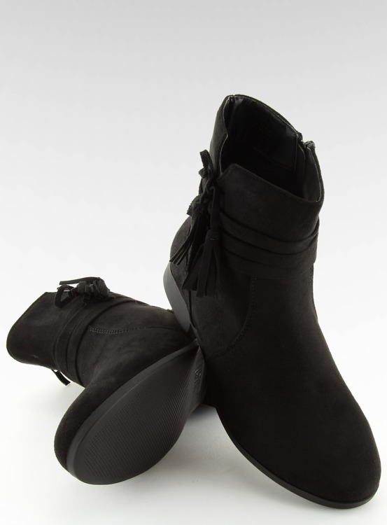 Botki zamszowe czarne LL022 BLACK