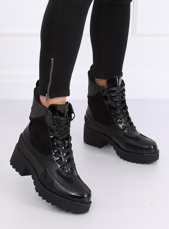 Buty na wysokiej podeszwie NS067 BLACK