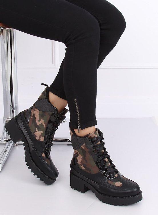 Buty na wysokiej podeszwie NS067 CAMOUFLAGE