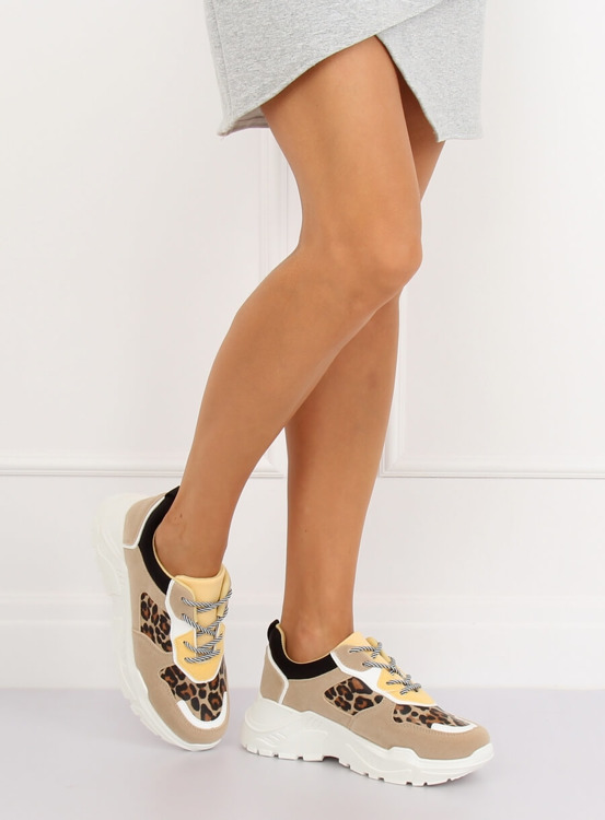Buty sportowe beżowe LV88P LEOPARD