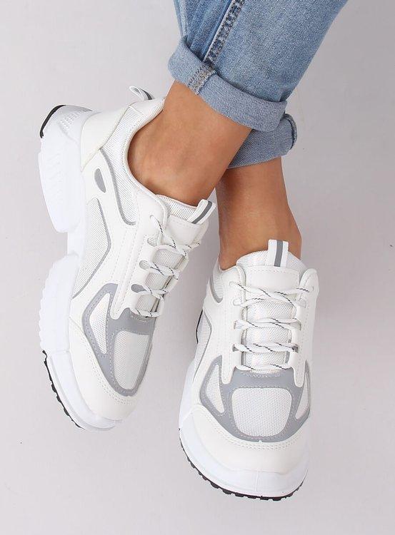 Buty sportowe białe BO-557 WHITE-H