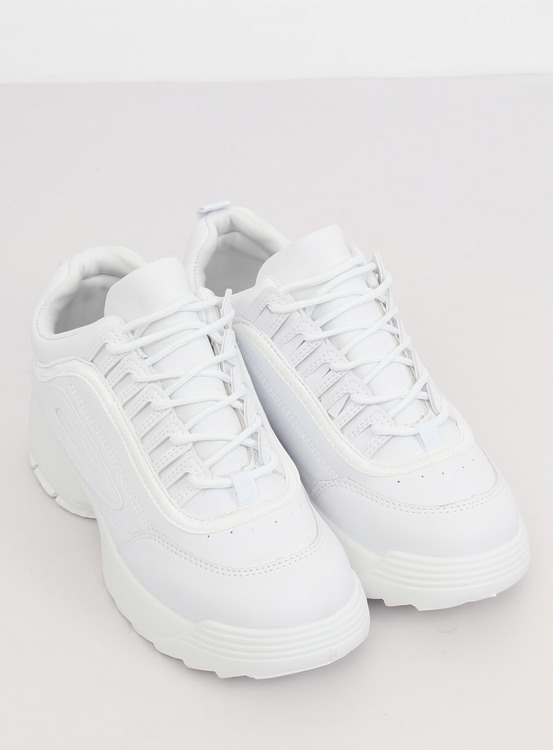 Buty sportowe białe D1909 WHITE