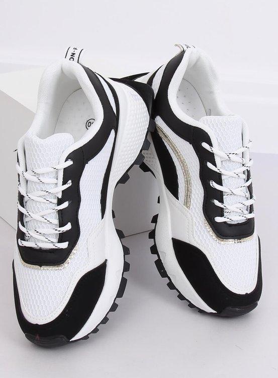 Buty sportowe biało-czarne LA87P BLACK