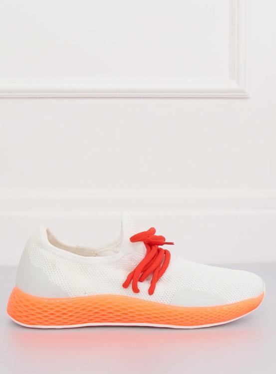 Buty sportowe biało-pomarańczowe B-6851 ORANGE
