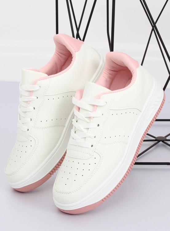 Buty sportowe biało-różowe LV75P PINK