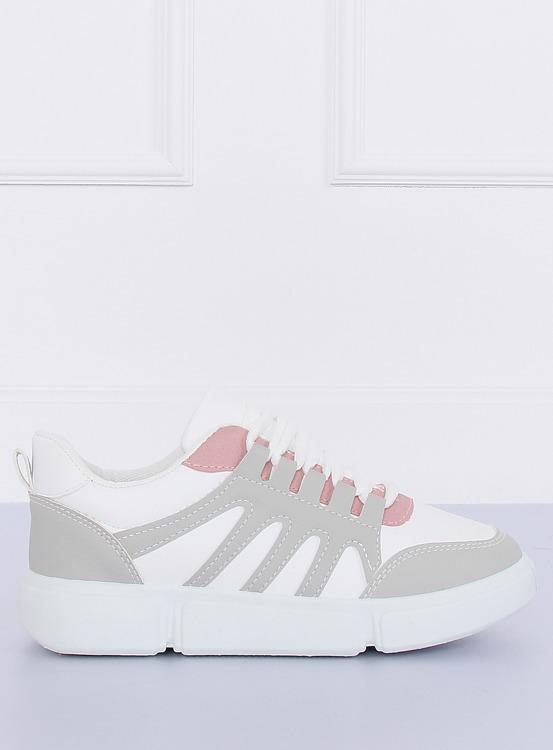 Buty sportowe biało-szare BL150P GREY