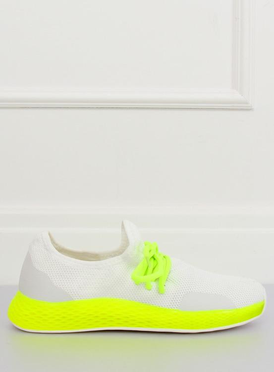 Buty sportowe biało-żółte B-6851 YELLOW