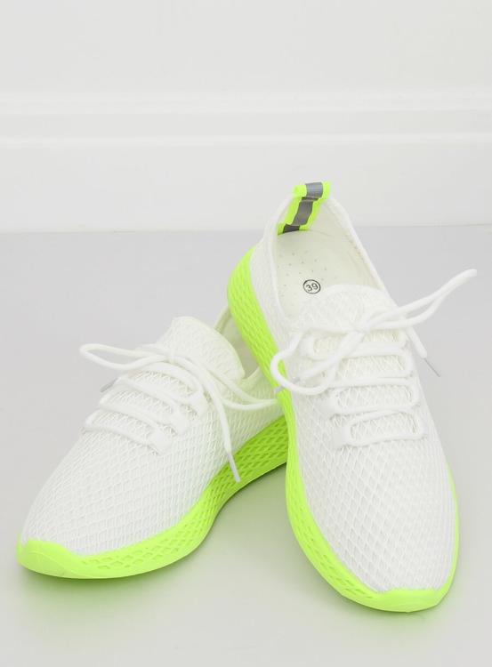 Buty sportowe biało-żółte NB283 FLUORESCENCE YELLOW