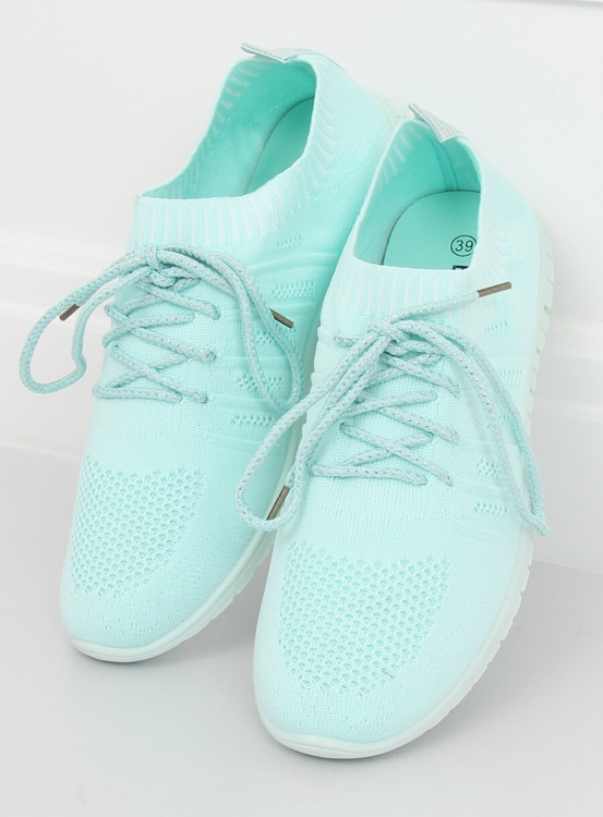 Buty sportowe błękitne B111-10 MINT GREEN