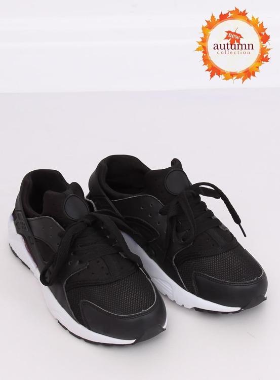 Buty sportowe czarne 613 BLACK/WHITE