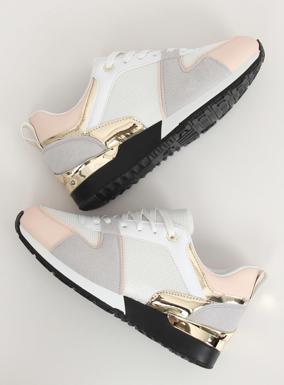 Buty sportowe białe B-01 WHITE/PINK