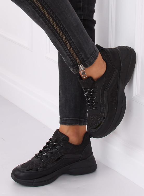 Buty sportowe czarne BY-082 BLACK