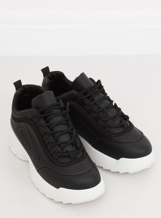 Buty sportowe czarne D1909 BLACK/WHITE