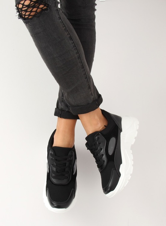 Buty sportowe czarne LV78P BLACK