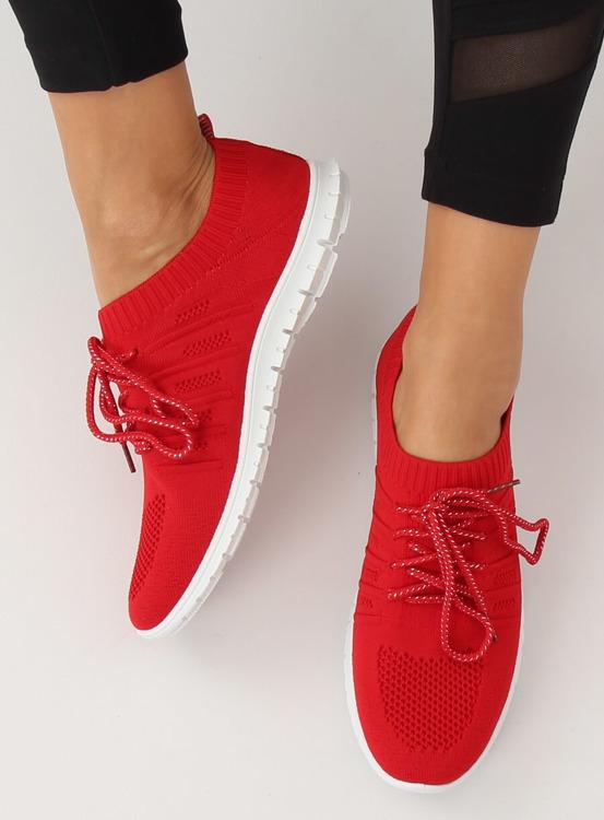 Buty sportowe czerwone B111-10 RED