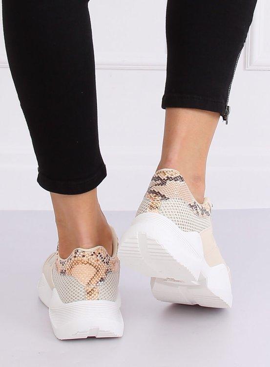 Buty sportowe damskie beżowe BL192P BEIGE
