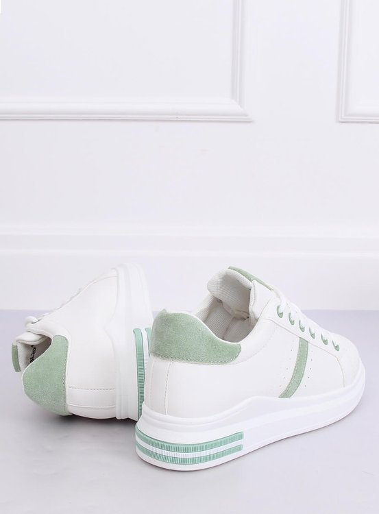Buty sportowe damskie białe BL201P GREEN