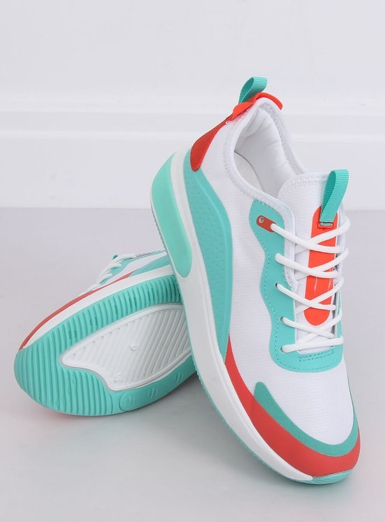 Buty sportowe damskie białe YK106 WHITE/BLUE