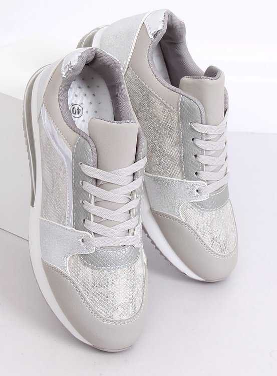 Buty sportowe damskie srebrne BL206 SILVER