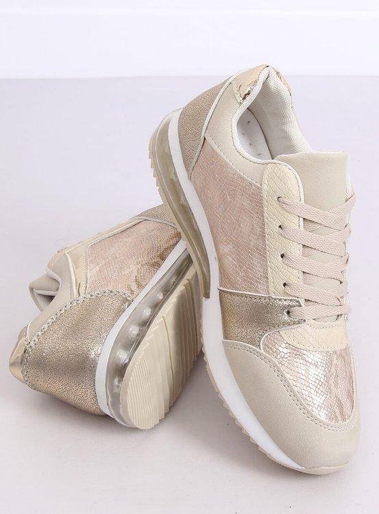 Buty sportowe damskie złote BL206 GOLD