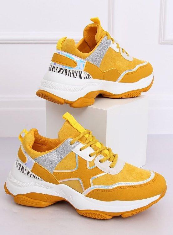Buty sportowe damskie żółte C-3127 YELLOW