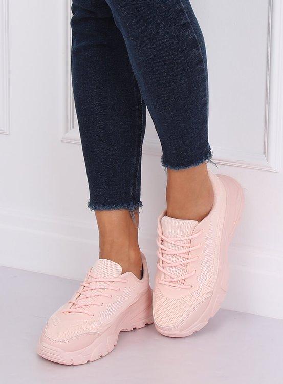 Buty sportowe różowe DML902 ALL PINK