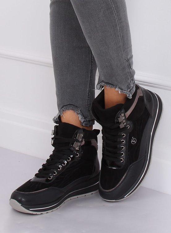 Buty sportowe za kostkę czarne JM6825R NEGRO