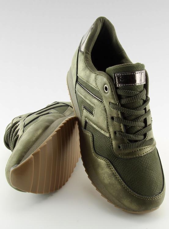Buty sportowe zielone KB-091 ARMY GREEN