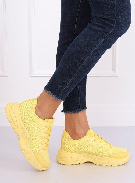 Buty sportowe żółte DML902 YELLOW
